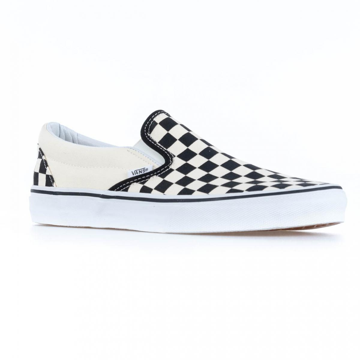 SCARPA UOMO VANS CLASSIC SLIP-ON VN-0 EYEBWW BLACK AND WHITE