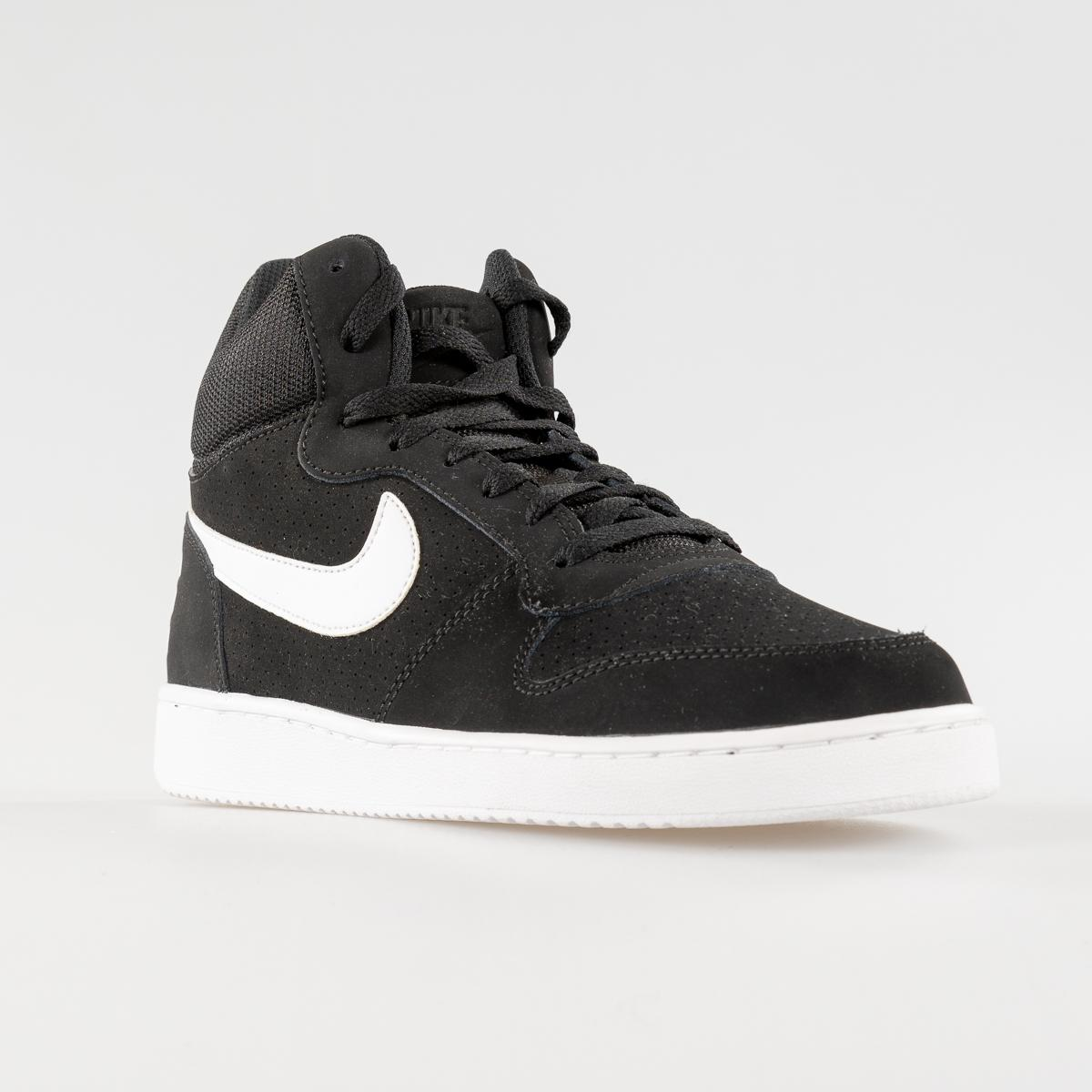 SCARPE UNISEX NIKE COURT B0ROUGH MID 838938 010 BLACK/WHITE