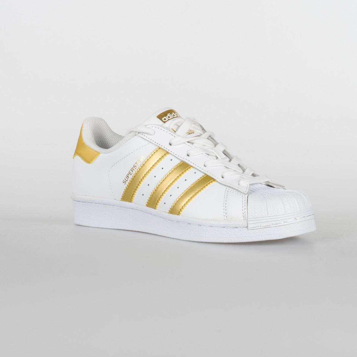 SCARPA UNISEX ADIDAS SUPERSTAR J BB2870 WHITE/GOLD