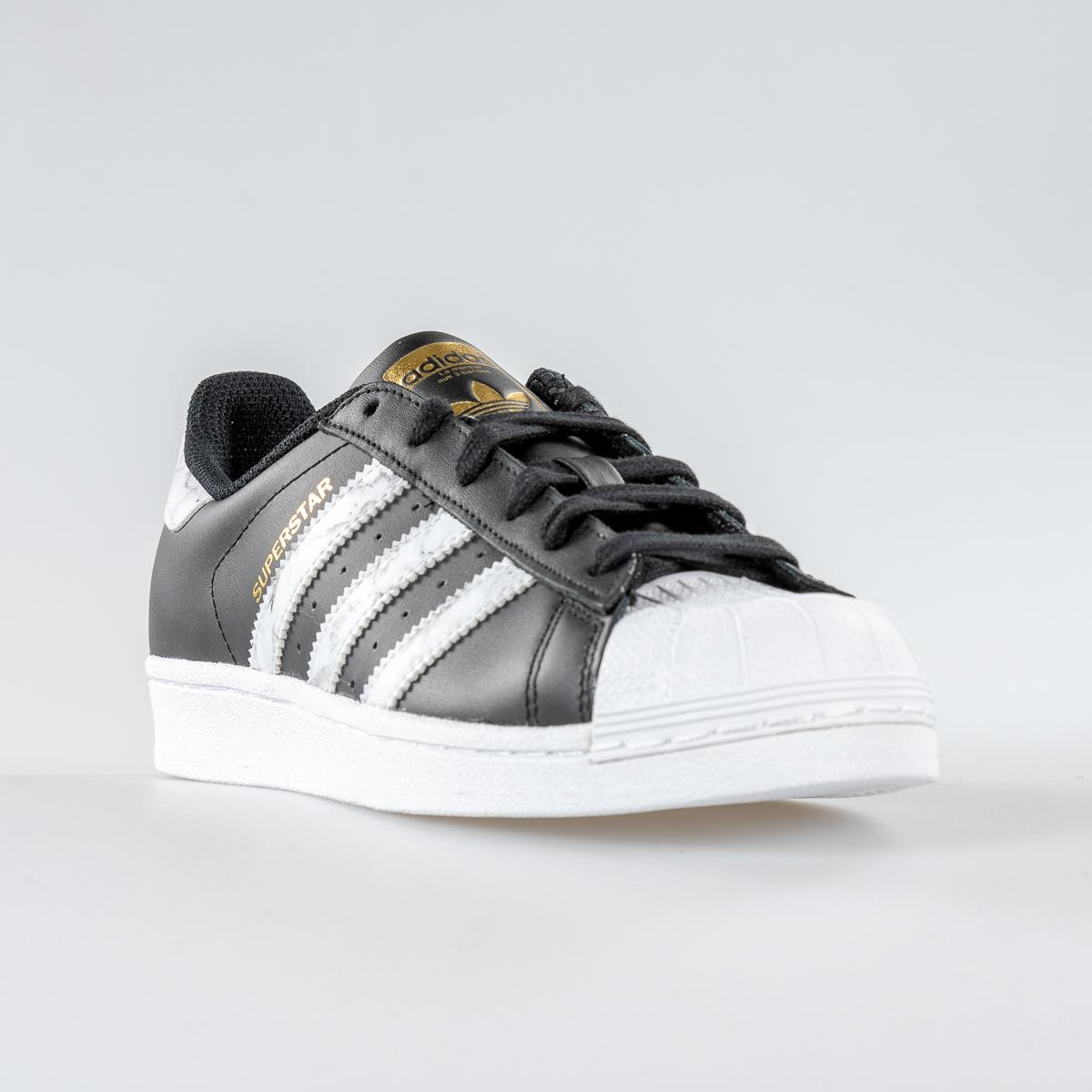 Gold Adidas White Uomo Black D96800 Superstar Scarpa On0kwP