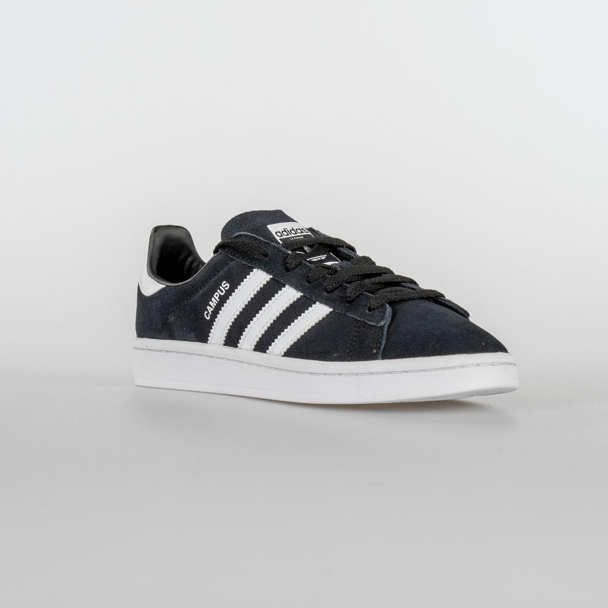SCARPA DONNA ADIDAS CAMPUS J BY9580 BLACK WHITE