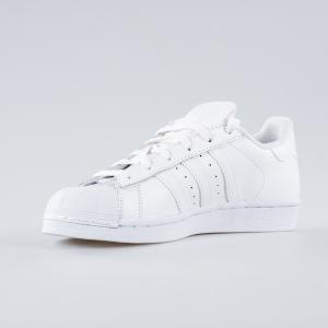 SCARPA DONNA ADIDAS SUPERSTAR FOUNDATION J B23641 BIANCO