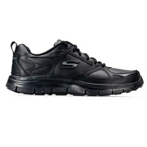 SCARPA UOMO SKECHERS FLEX ADVANTAGE EVEN STRENGHT 51461 BBK BLACK