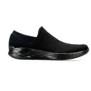 SCARPA DONNA YOU BY SKECHERS YOU SLIP ON 14951-BBK NERO