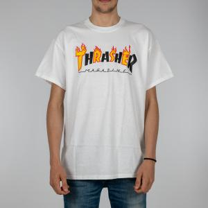 T-SHIRT UNISEX THRASHER MAG 144568 WHITE