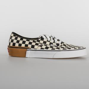 SCARPA UOMO VANS AUTHENTIC (GAMBLOCK) VN0A38EMU58 CHECKERBOARD BIANCO E NERO