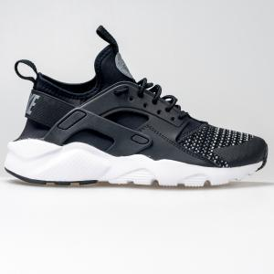 SCARPA UOMO NIKE AIR HUARACHE RUN ULTRA SE (GS) BLACK/WHITE