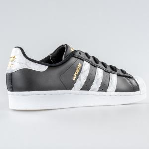 SCARPA UOMO ADIDAS SUPERSTAR D96800 BLACK WHITE GOLD