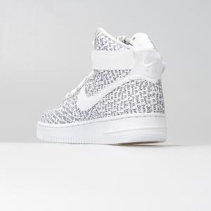 SCARPA DONNA NIKE WMNS AIR FORCE 1 HI LX AO5138100 WHITE BLACK