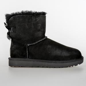 SCARPA DONNA UGG MINI BAILEY BOW II 1016501 W/BLK