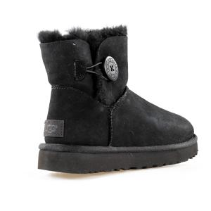 SCARPA DONNA UGG MINI BAILEY BUTTON BLING 1016554 W/BLK
